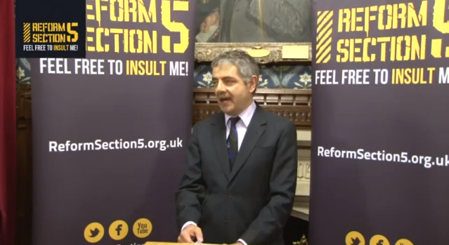 "Rowan Atkinson Argues Against the ""Culture of Censoriousness"""