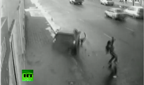 Video of the Week: Man Narrowly Avoids Being Hit by Car